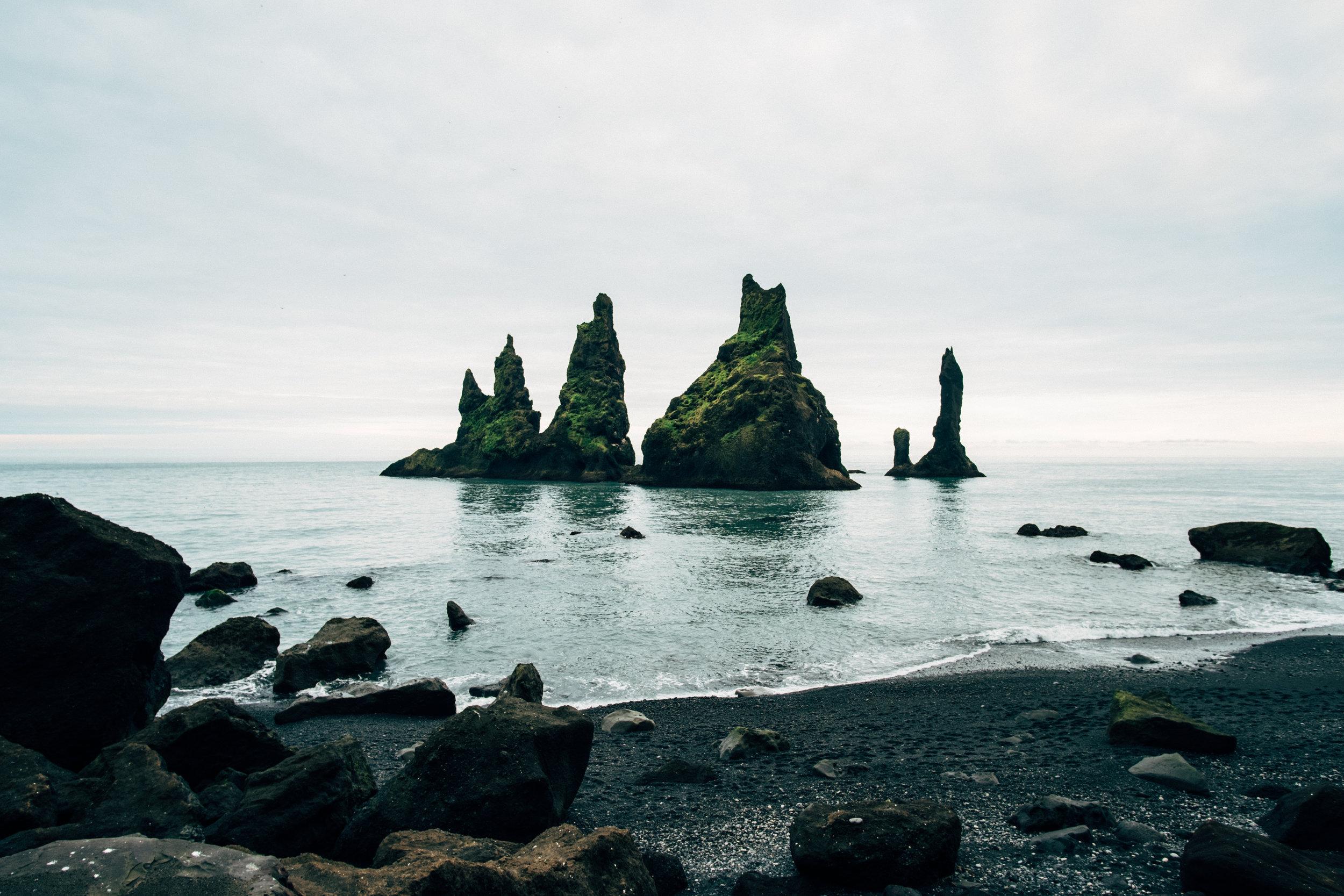 Reynisdrangar Cliffs Ocean