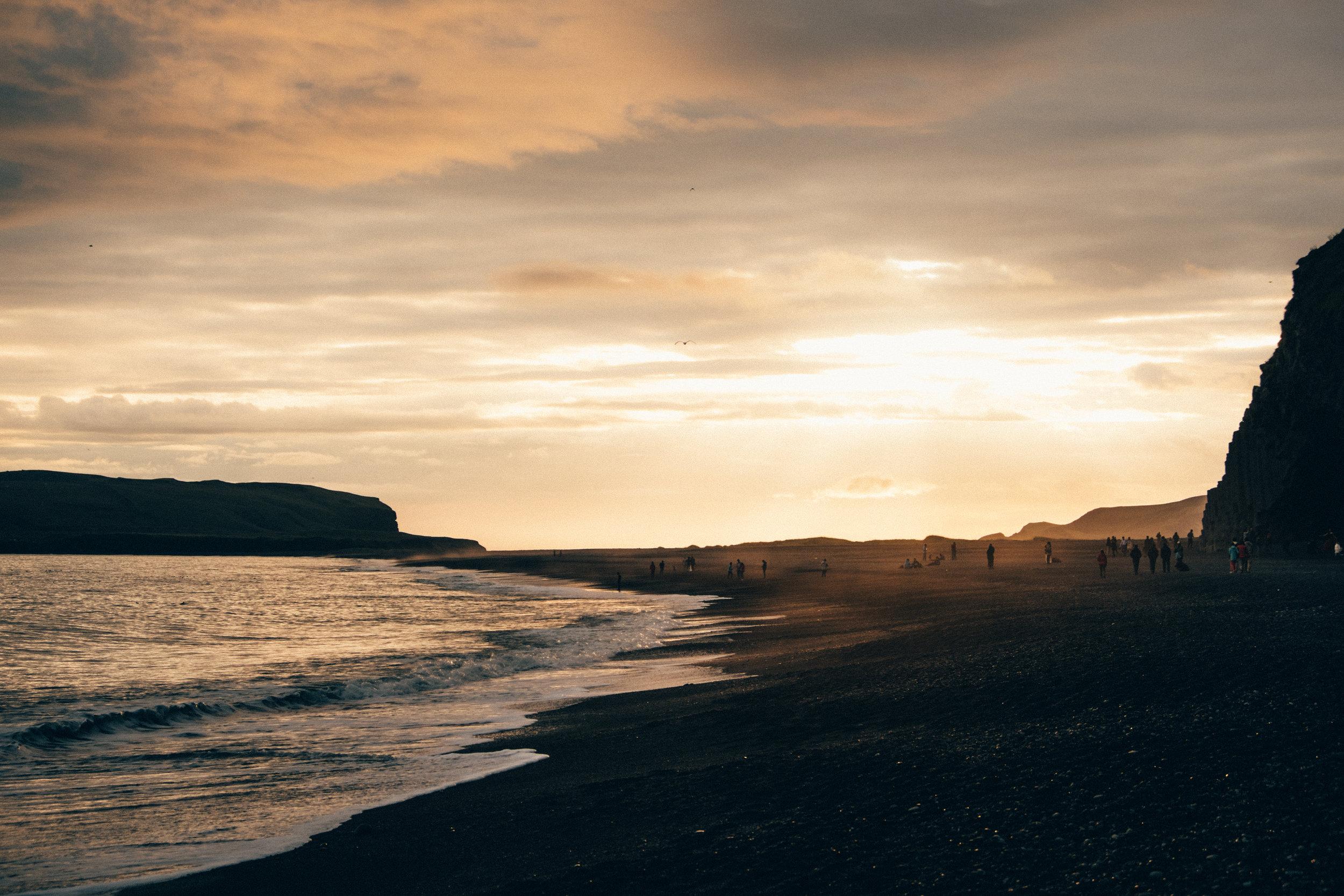Reynisfjara Beach Sunset