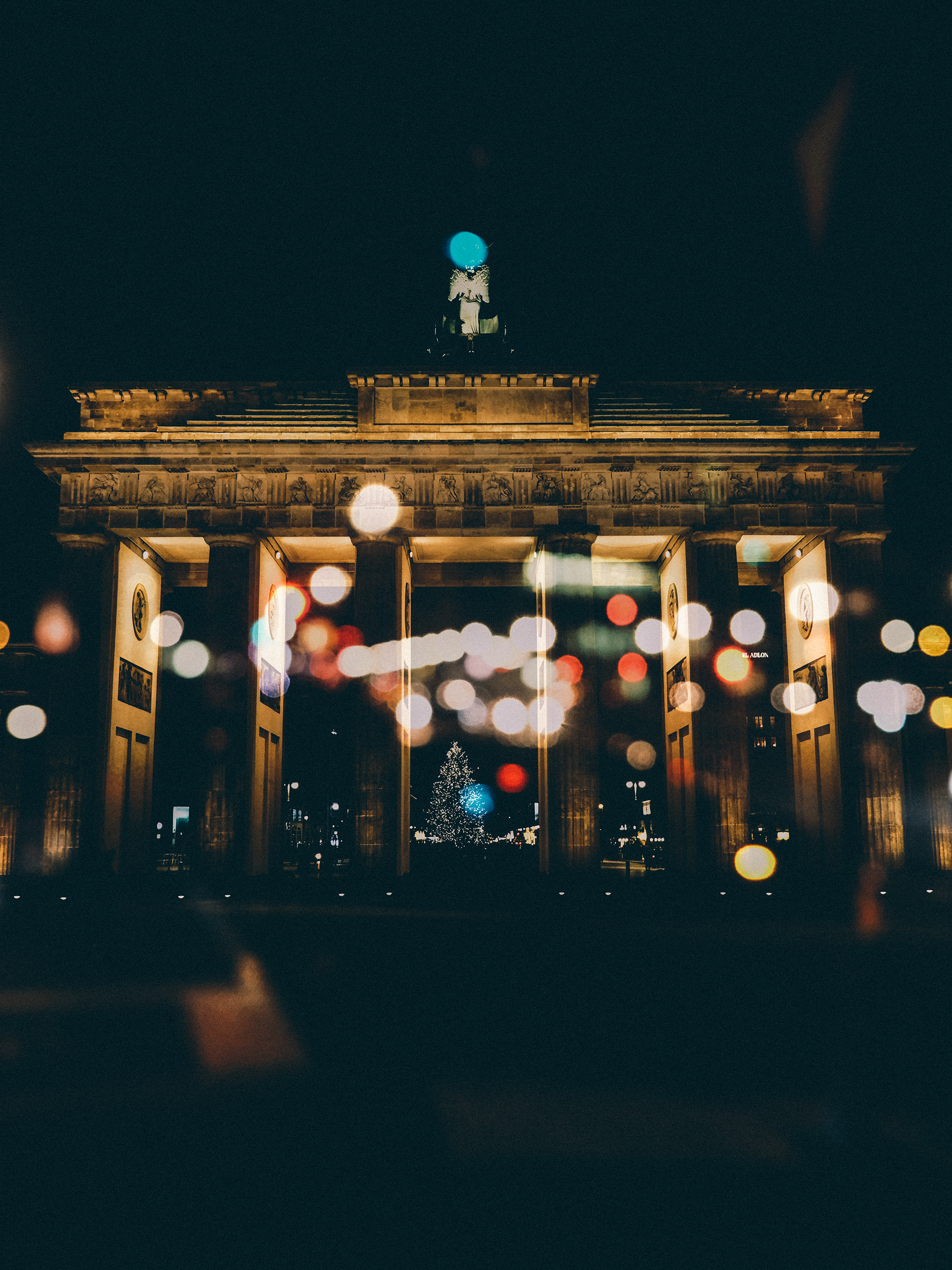 Double Exposure Brandenburg Gate