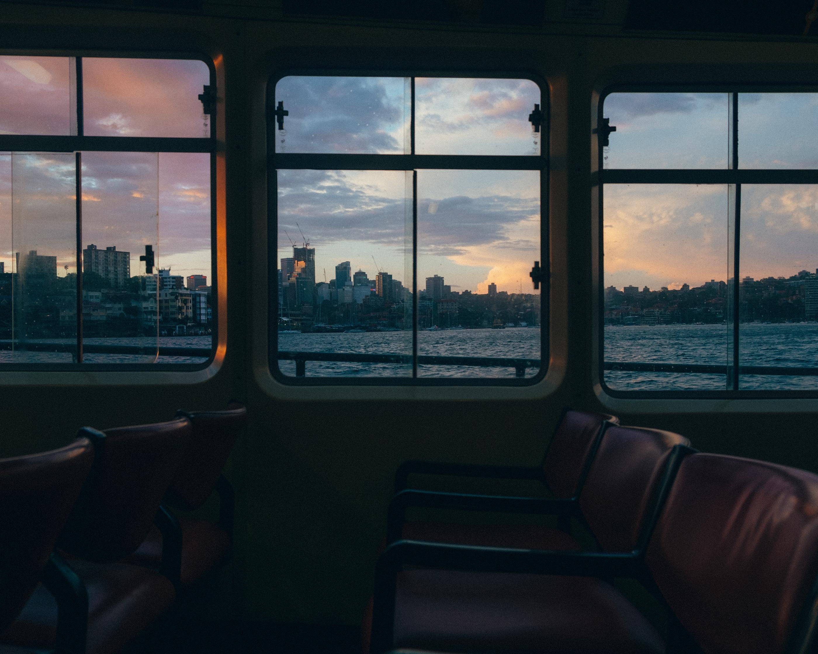 Sydney Ferry Seating