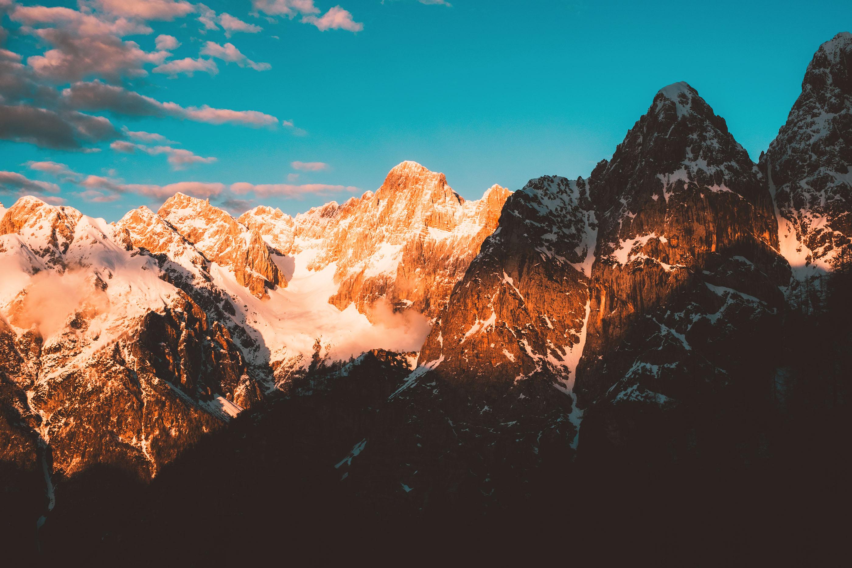 Vršič Pass Mountain Range
