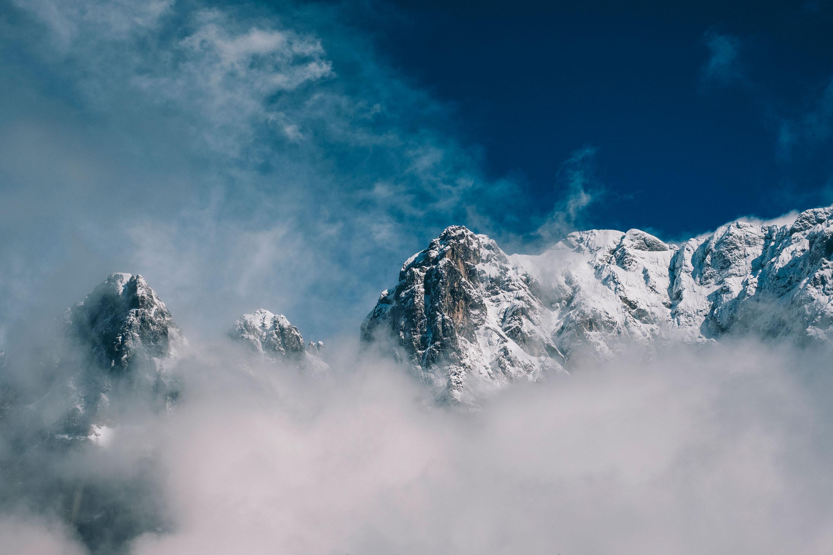Vršič Pass Snowcapped Mountains