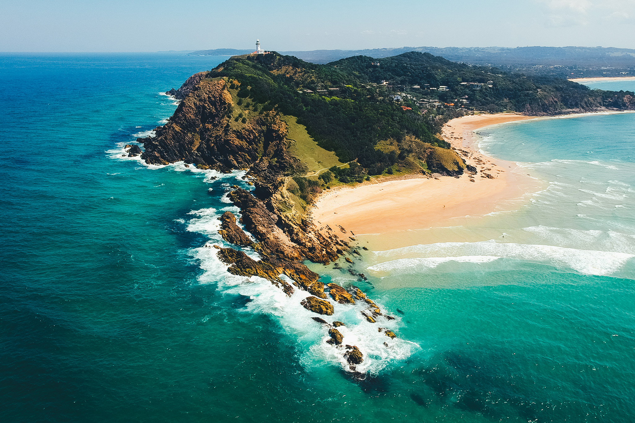 Byron Bay Lighthouse Aerial View