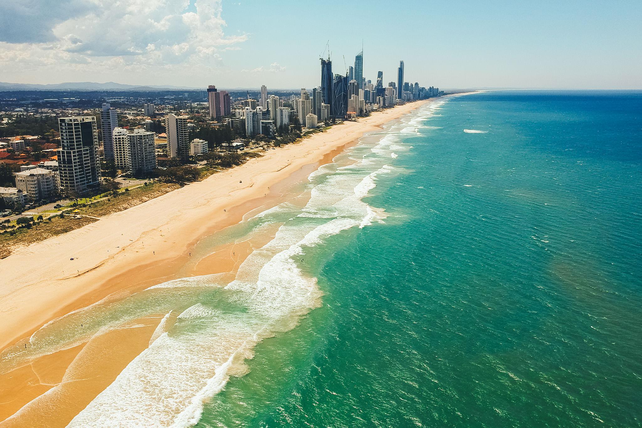 Gold Coast Beach Waves