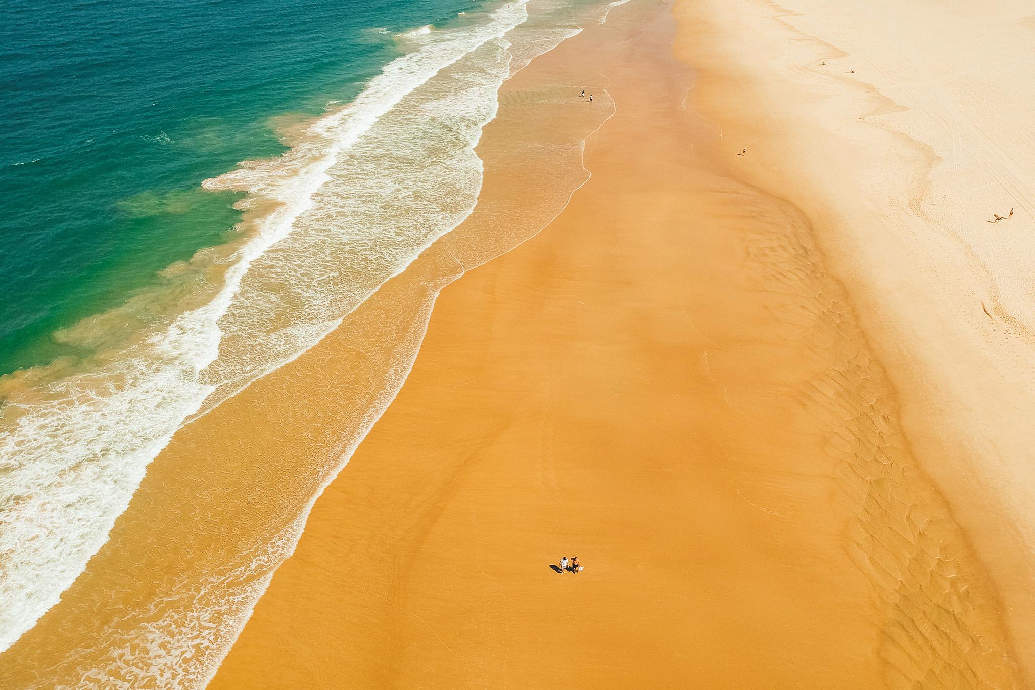 Drone Shot of beach at Gold Coast