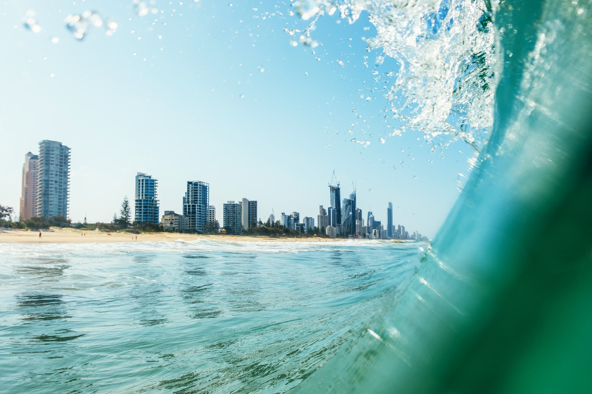 View of Gold Coast from Inside Wave