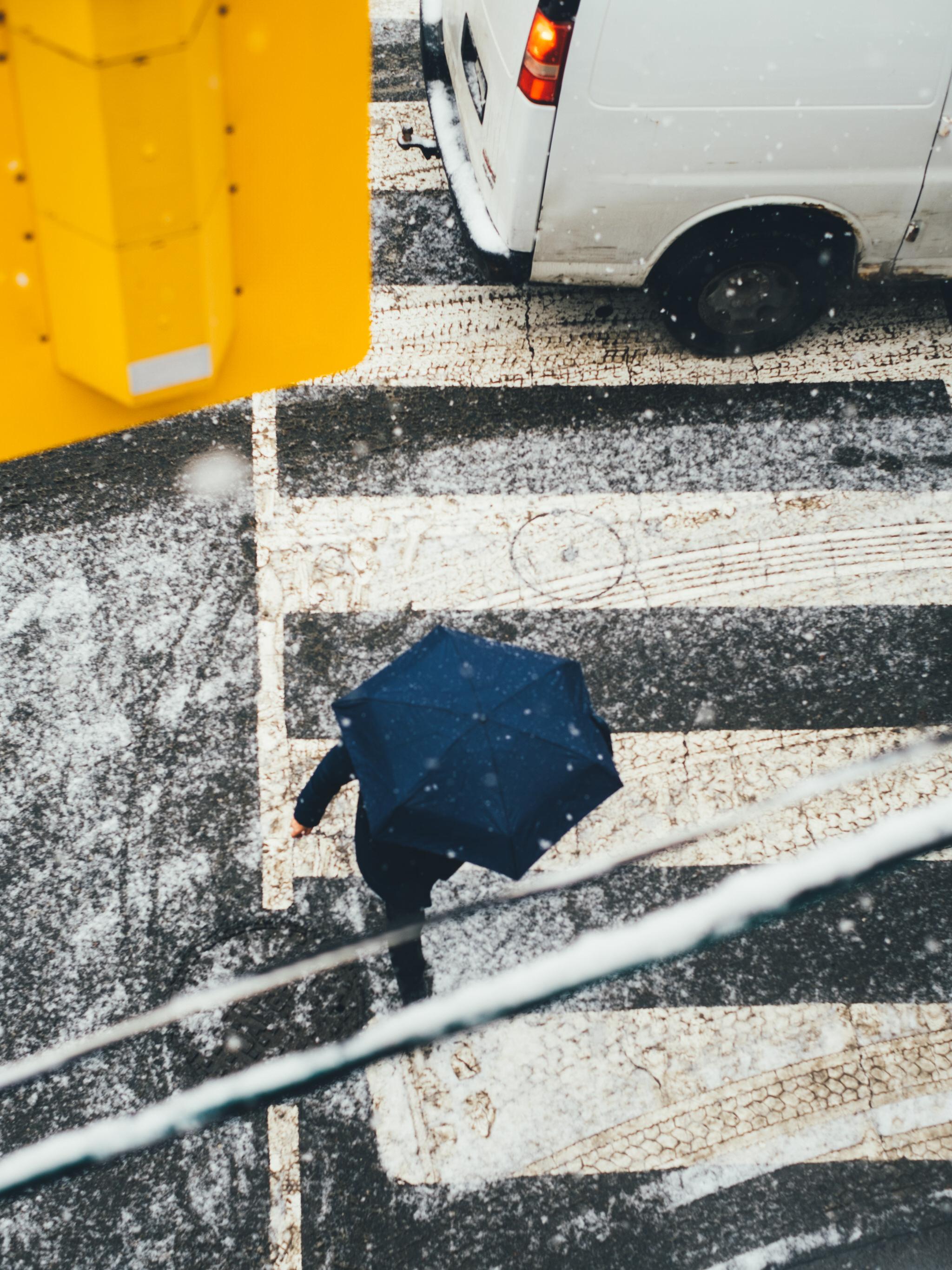 Snowfall Toronto Street Crossing