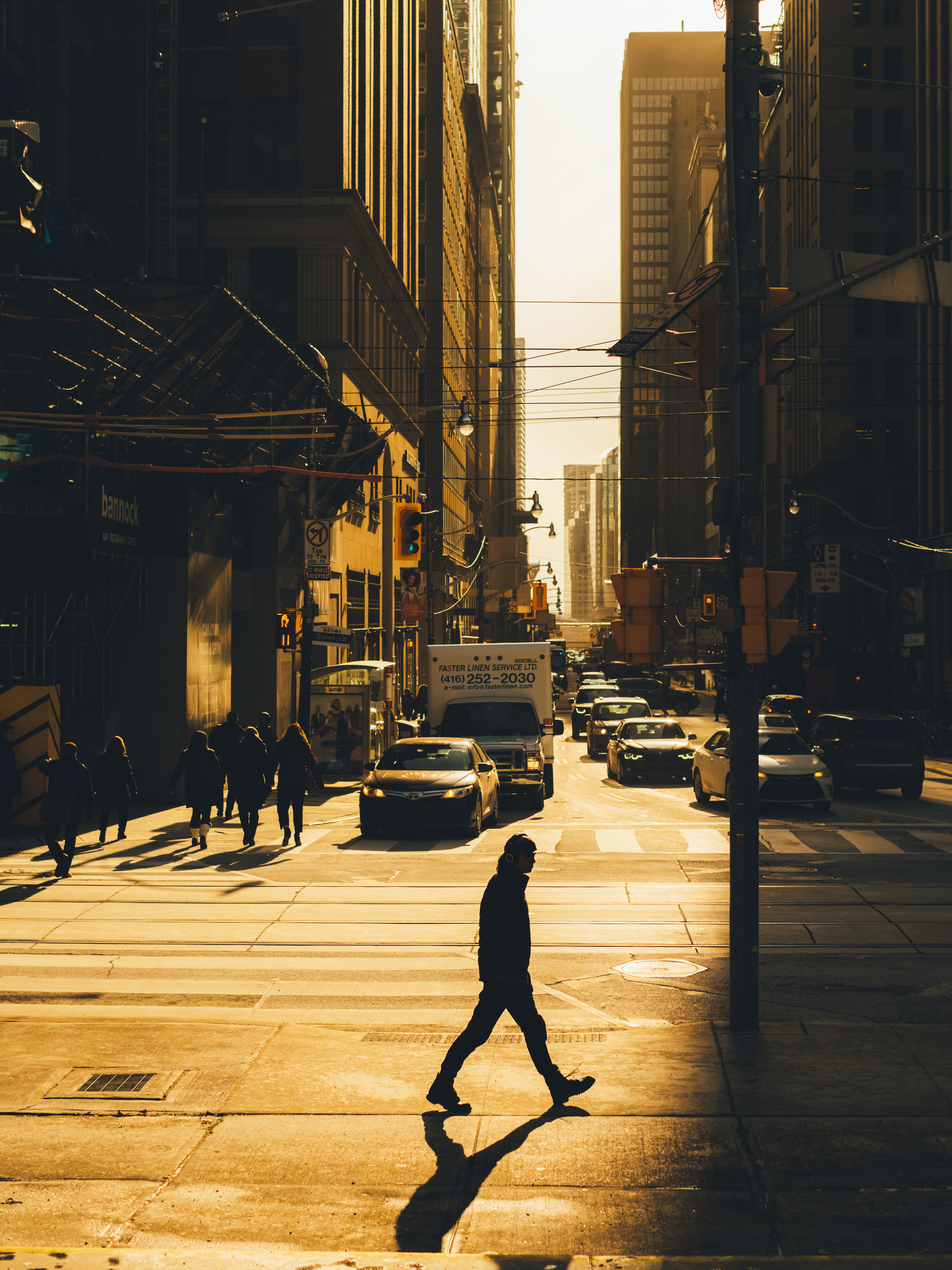 Street Photography Toronto Heavy Shadows Downtown