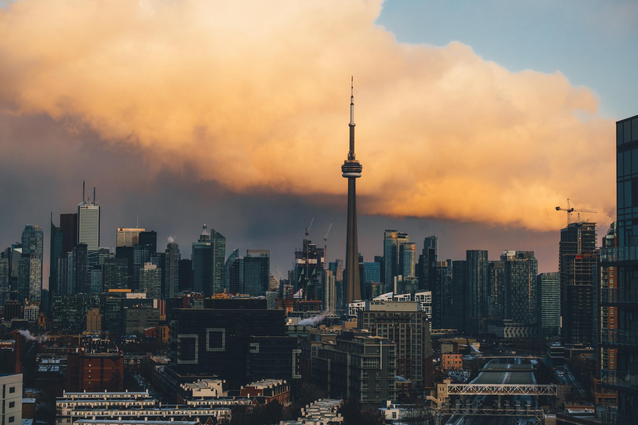 Dramatic Sky over Toronto Skyline