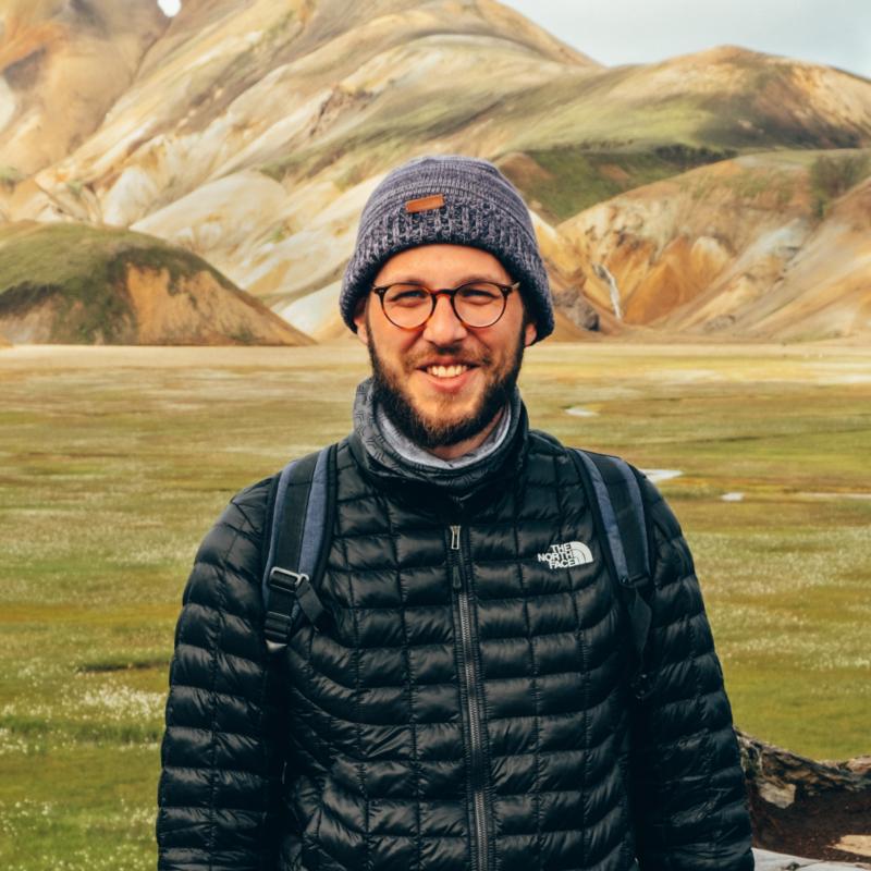Adam Vradenburg in Iceland